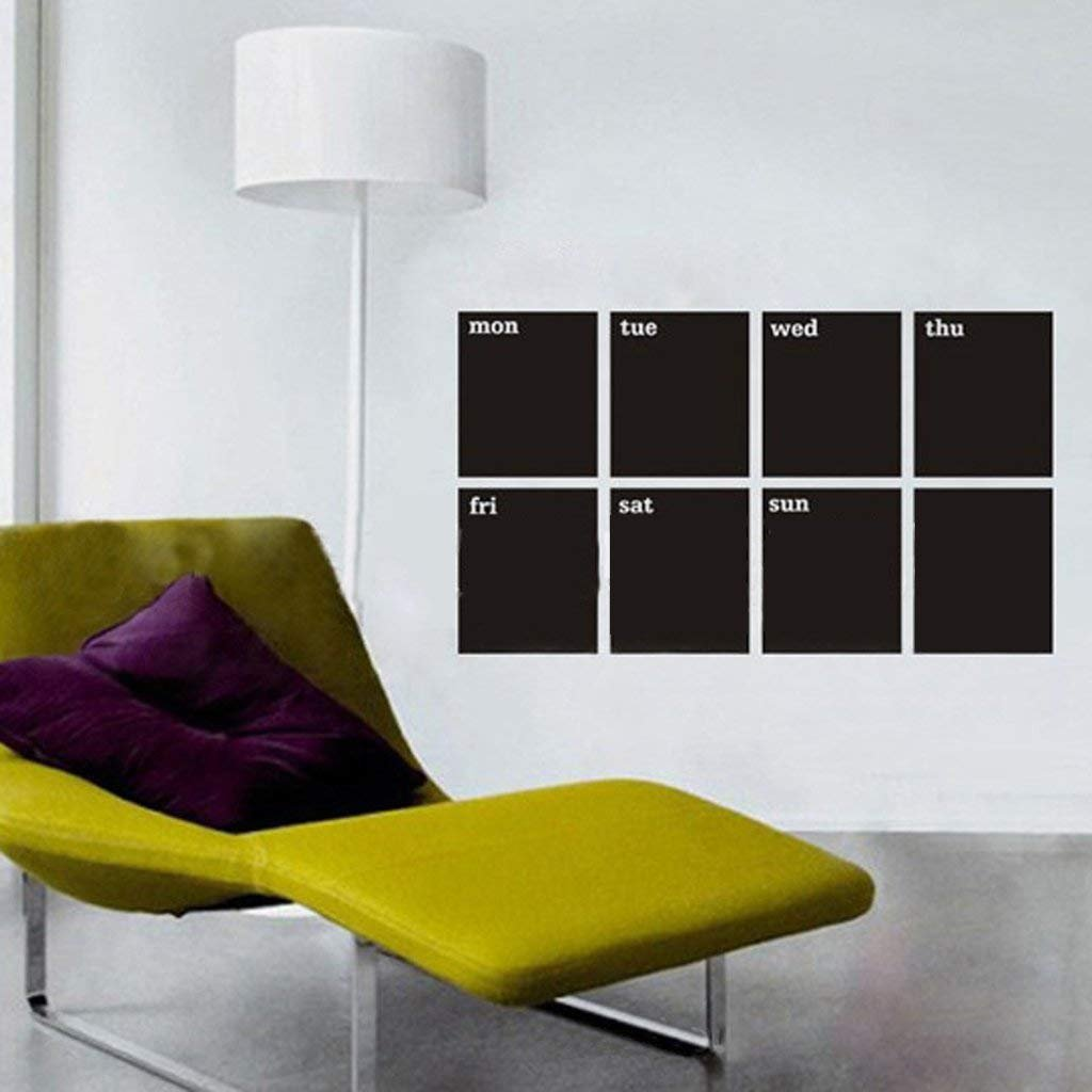 8 detachable A4 size blackboard wall stickers plus 1 chalk RUNFON