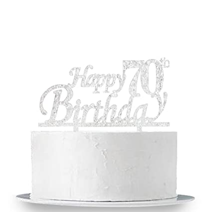 Image Unavailable Not Available For Color INNORU Happy 70th Birthday Cake Topper