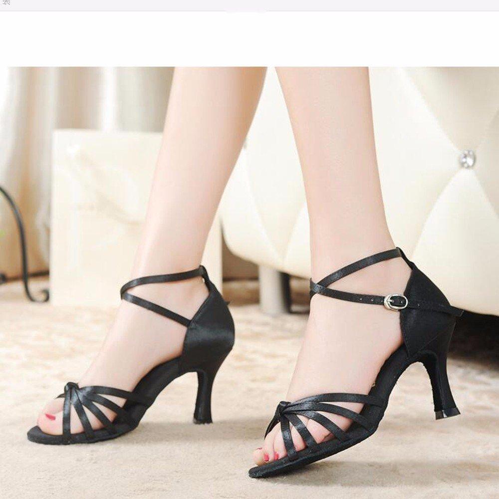 5.5Cm noir Masocking@ Femme Chaussures de Danse Sandales Liens nœud US5.5 EU36 UK3 CN35