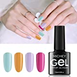 MICHEYGel Gel Nail Polish, UV Soak Off Gel Nail Set,Pack of 4 colors