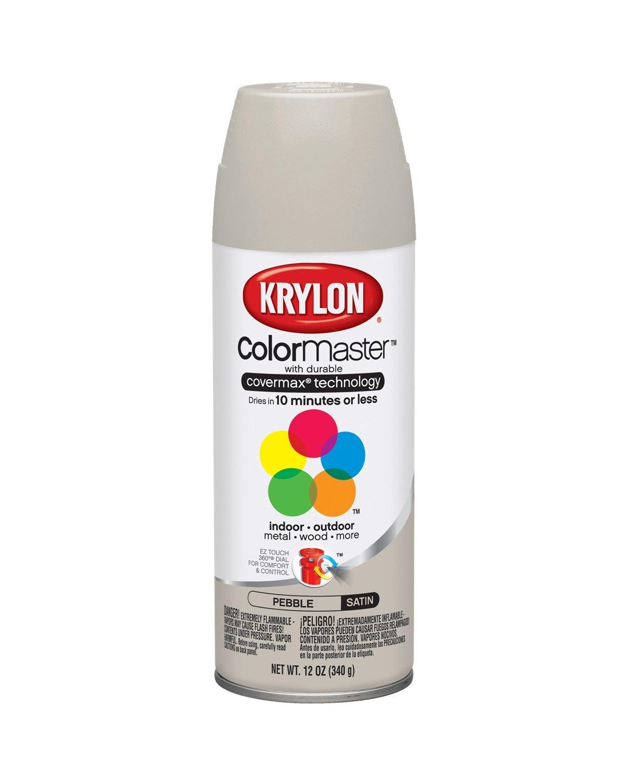 Krylon K05352007 Pebble 'Satin Touch' Decorator Spray Paint - 12 oz. Aerosol