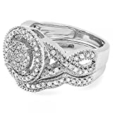 055-Carat-ctw-Sterling-Silver-Round-White-Diamond-Womens-Micro-Pave-Engagement-Ring-Set-12-CT