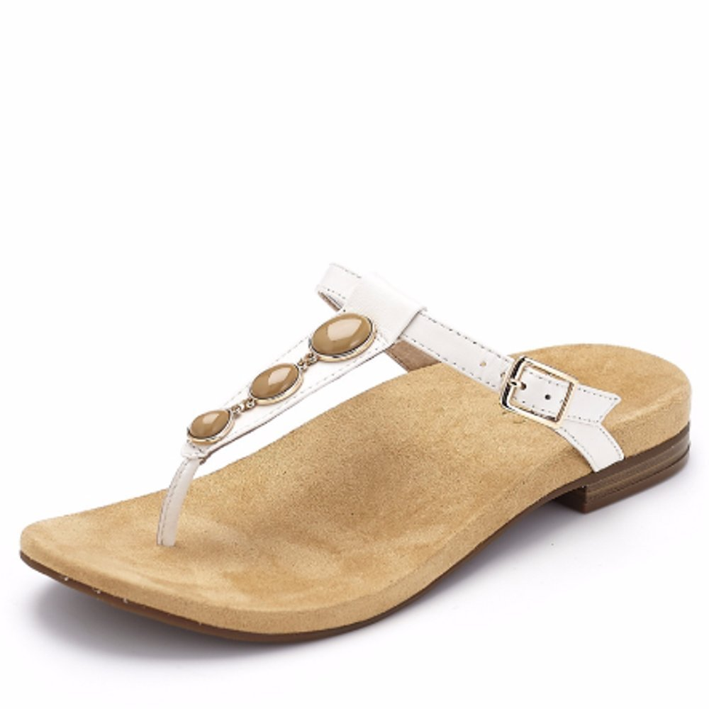 043965a8bc2b Vionic Orthotic Jada Crystal Stone Detail Sandal with FMT Technology -  White - UK 4  Amazon.co.uk  Shoes   Bags