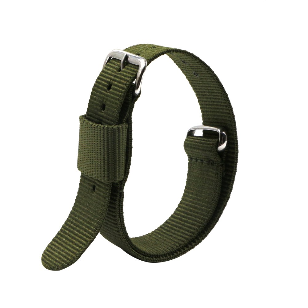 4pc 20mm Nato Ss Nylon Replacement Watch Strap Band by Ritche (Image #3)