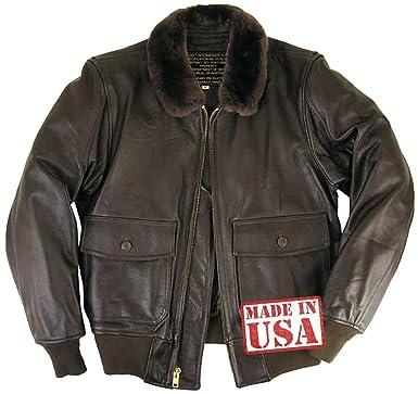2dd84d16de8 Legendary USA Men s Hellcat G-1 Leather Flight Jacket w Side Entry -Brown