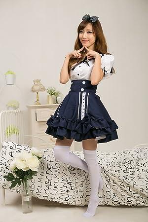 Gorgeous Marina japonesa marinero cosplay vestido de la princesa lolita uniformes ropa vestido de la correa