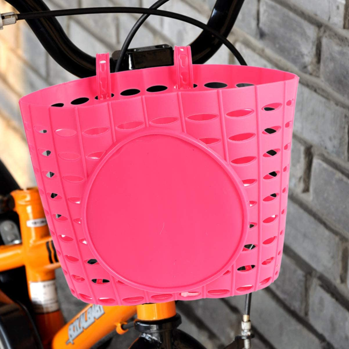 BESPORTBLE Kids Bike Basket Plastic Front Handlebar Bicycle Basket for Kids Boys Girls Black