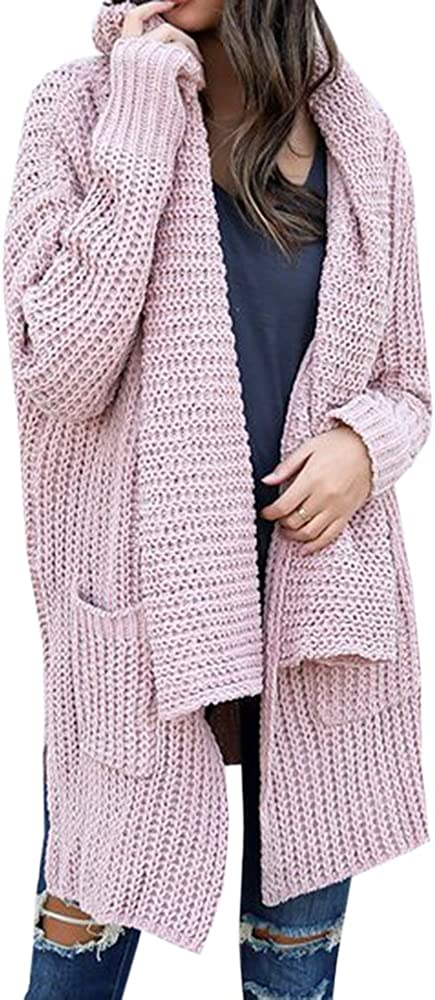 Ofenbuy Womens Overzied Cardigan Sweaters Open Front Long Sleeve Chunky Knit Cardigans Outwears