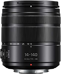 Panasonic Lumix G Vario 14-140mm Telephoto Zoom Lens with F3.5-5.6 II ASPH, Mirrorless Micro Four Thirds Mount and Power O.I.S. - H-FSA14140 (Upgraded USA Black)