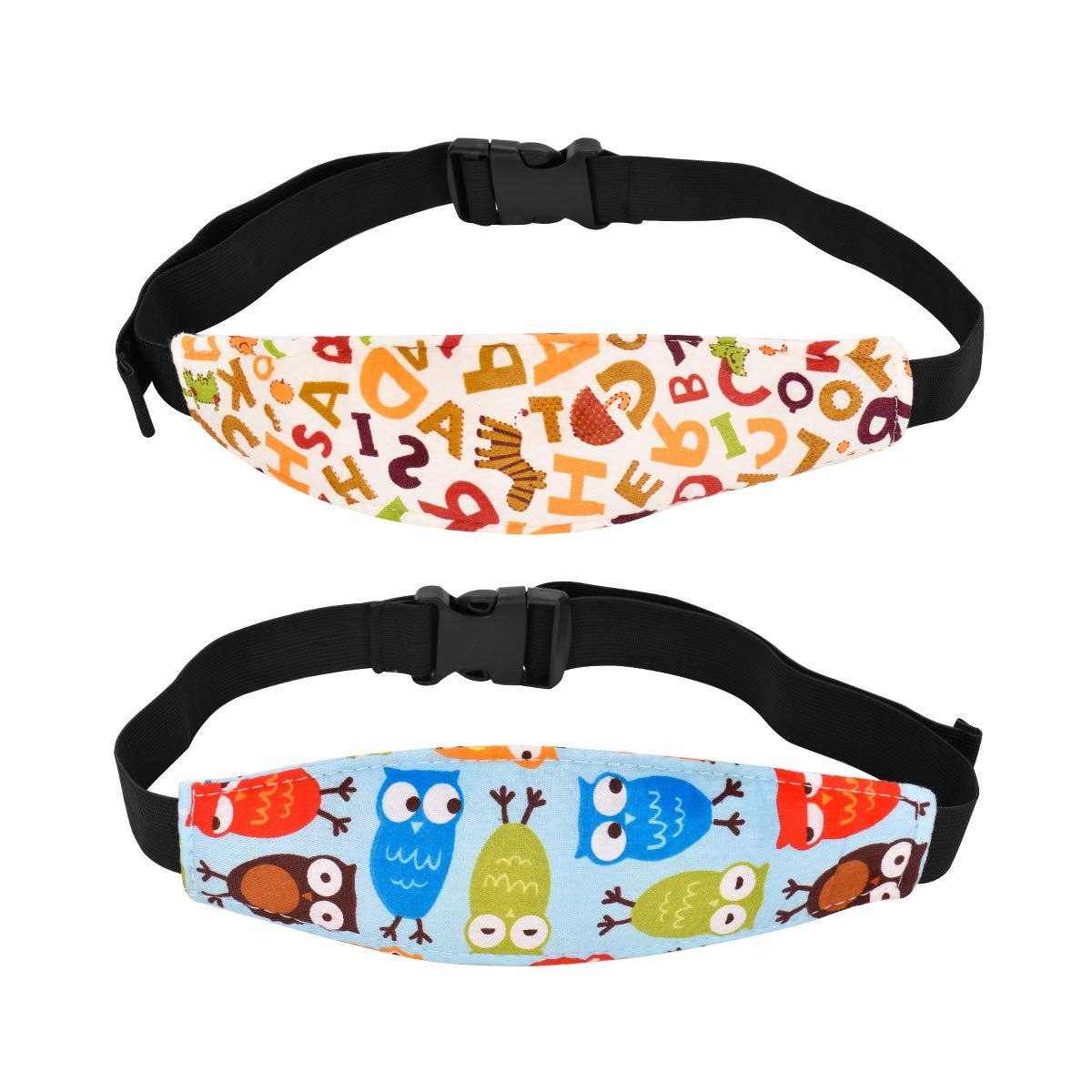 Bebés Soporte de la Cabeza, Cinturón de Seguridad de Coche para Niños y Bebés, Cinturón Ajustable de Seguridad Fijación Protección de Cabeza - 2 PCS: ...