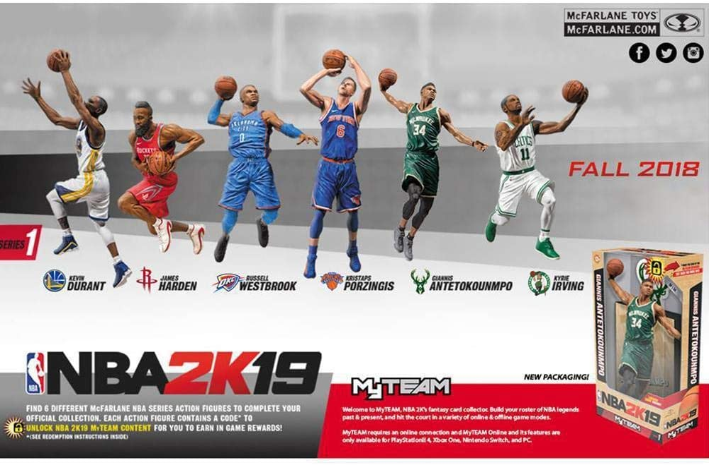 McFarlane NBA 2K19 Action Figure Series 1 James Harden (Houston ...
