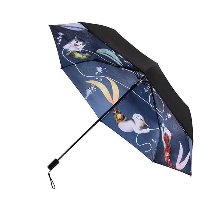 9cd3d1db3810 Amazon.com : QCHOMEE Windproof Travel Umbrellas Tri-fold umbrella ...