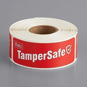 Angel's peel lounge - Labeling - Tamper Safe Tape - Tamper-Evident Label/Seal/Sticker for Food Container Red Color Tamper Safe Tape (1 x 3 inches)
