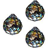 Sfera di cristallo D.30mm-esoterico-Arcobaleno Cristallo Feng Shui-Decorazione per finestra, confezione da 330% Pbo Cristallo completamente taglio-multiforme lampadario di cristallo con lampada in cristallo