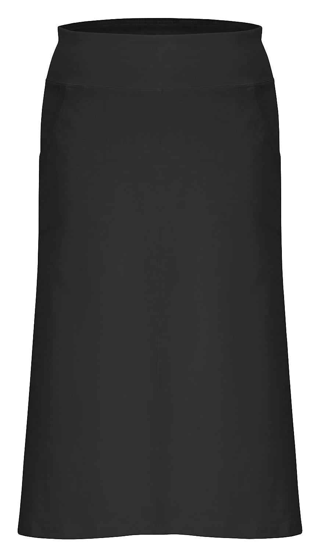 6287beca2f88 Baby'O Women's Stretch Cotton Knit Panel Below the Knee Skirt, black,  medium at Amazon Women's Clothing store: