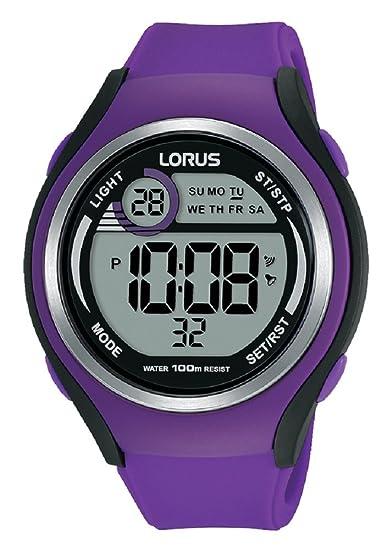 Lorus Reloj Digital para Mujer de Cuarzo con Correa en Silicona R2385LX9: Amazon.es: Relojes