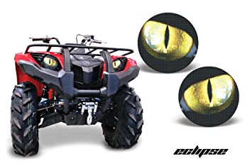 Yamaha Grizzly 660 >> Amr Racing Atv Headlight Eye Graphic Decal Cover For Yamaha Grizzly 660 450 400 350 125 Eclipse Yellow