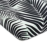 Brooklyn Born Organic Crib Sheet - Palm Beach, Black/Green, One Size