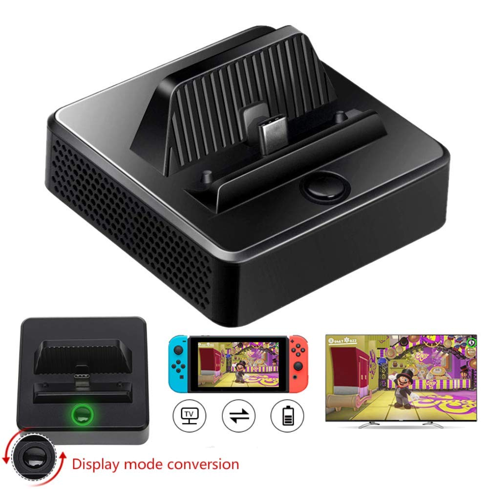 Switch Dock, Portable Switch Charging Stand, Compact Switch to HDMI Adapter, Switch Docking Station with Extra USB 3.0 Port, Replacement Charging Dock for Nintendo Switch with USB C Power Input by WISSBLUE
