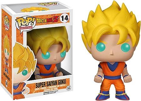 Figura de Goku Super Saiyan, de la serie Dragonball Z,Cada personaje mide 9 cm de altura aproximadam