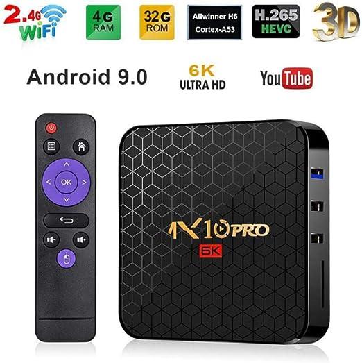 AXDNH Android TV Box, Smart Media Home Box Android 9.0OS 4 GB de RAM 64 GB ROM Quad Core WiFi 2.4G Ethernet USB3.0 decodificador 4K 3D HD Player Red,4+32: Amazon.es: Hogar