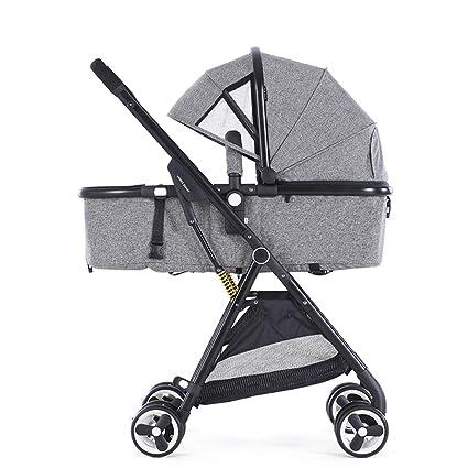 HAOJUN Cochecito de bebé Paraguas de bebé Puede Sentarse Mentir Ligero Plegable Ultra-Ligero Bolsillos