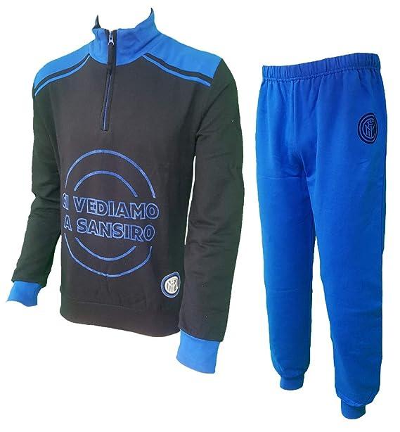 PLANETEX Inter Soccer Pijamas Hombres Largo Oficial FC Internazionale PS 08608: Amazon.es: Ropa y accesorios
