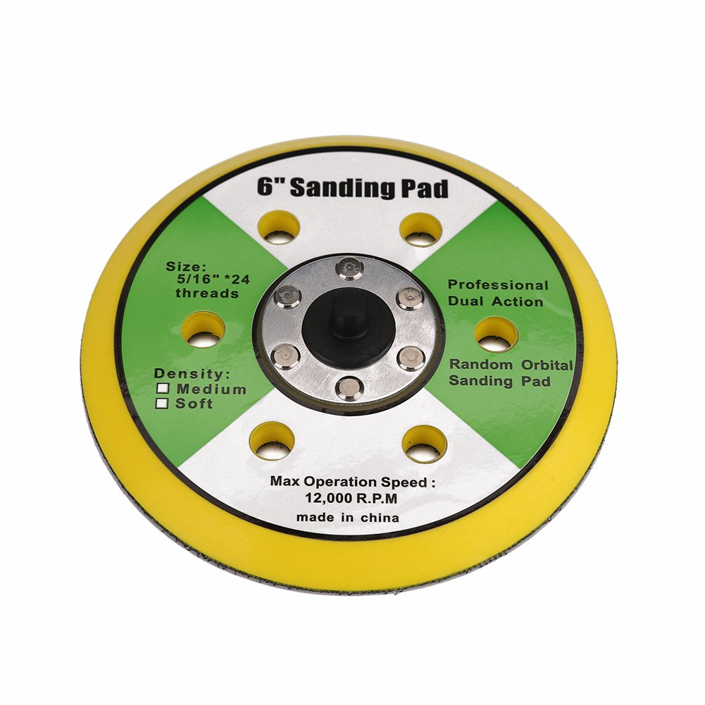 Ouya 2PCS 6 Inch 6-Hole Backing Pads 5//16-24 Threads Polishing Buffing Plate for Dual Action Polisher