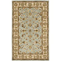 Safavieh Heritage Collection HG913A Handcrafted Traditional Oriental Light Blue and Beige Wool Area Rug (5 x 8)