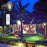Kaotoer Outdoor Laser Light Projector RGB Laser Christmas Lights Waterproof Landscape Lighting Holiday Projection Lights for Party and Patio Lawn Yard Garden Decoration laser lighter (RGB-stars)