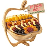 Oh! Nuts Dried Fruit Gift Basket for Fathers Day   Healthy No Sugar Added Huge Assortment of Dried Fruit Gourmet Holiday Gift