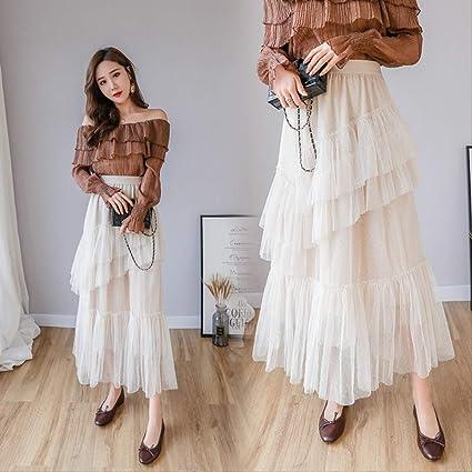 MEILIDE Falda para Mujer Primavera Nueva Falda Larga de