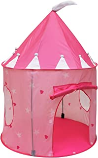 Click Nu0027 Play Girlu0027s Princess Castle Play Tent ...  sc 1 st  Amazon.com & Amazon.com: Portable Pink Folding Play Tent Kids Girl Princess ...