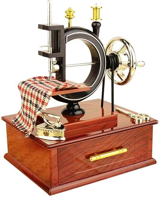 Yeefant - Caja de música con mecanismo tallado, estilo vintage ...