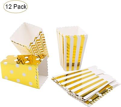 SenPuSi Paquete de Palomitas de maíz, 12 Piezas Mini Caja de ...