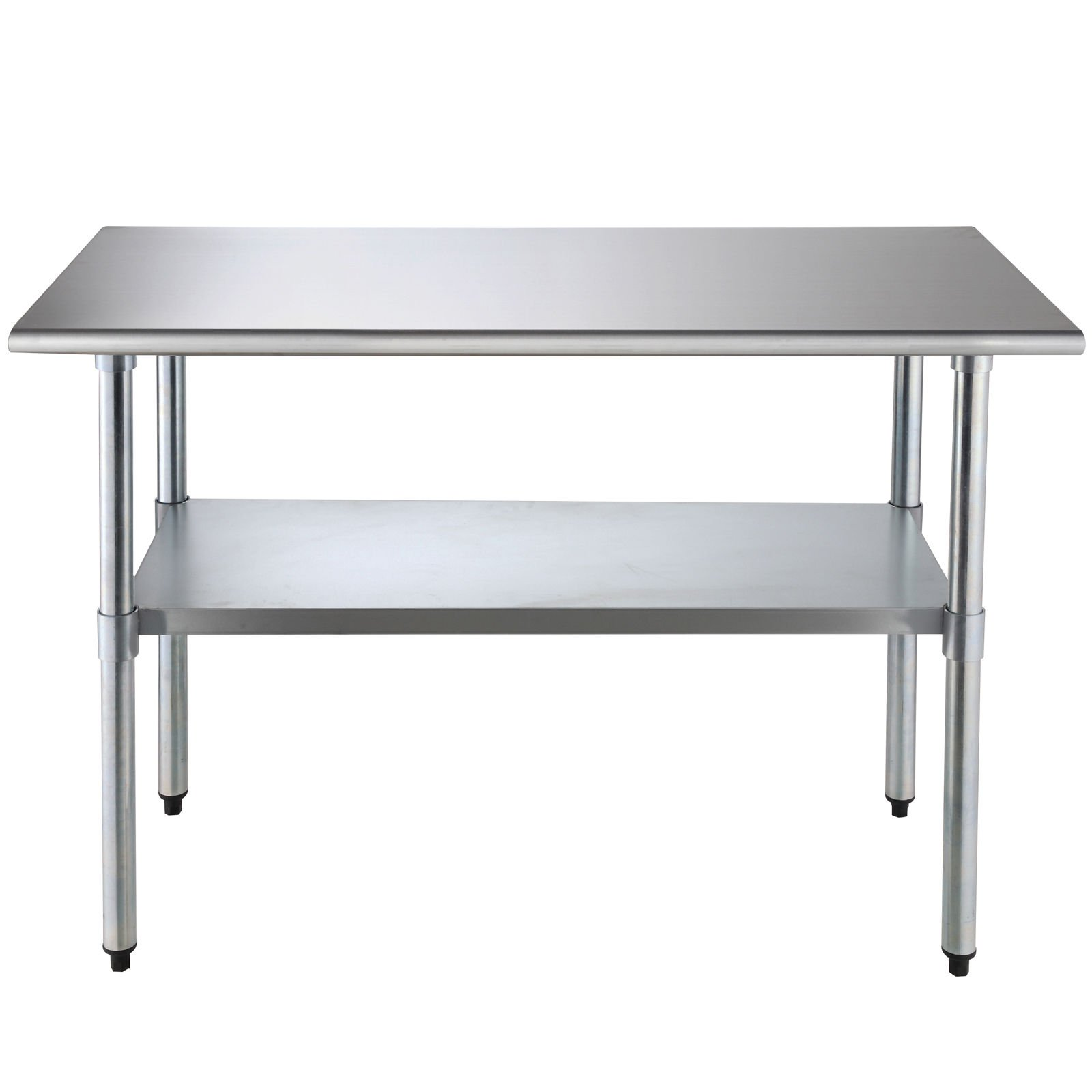 SUNCOO Commercial Stainless Steel Work Table Food Grade Kitchen Prep Workbench Metal Restaurant Countertop Workstation with Adjustable Undershelf 48 in Long x 24 in Deep by SUNCOO (Image #2)