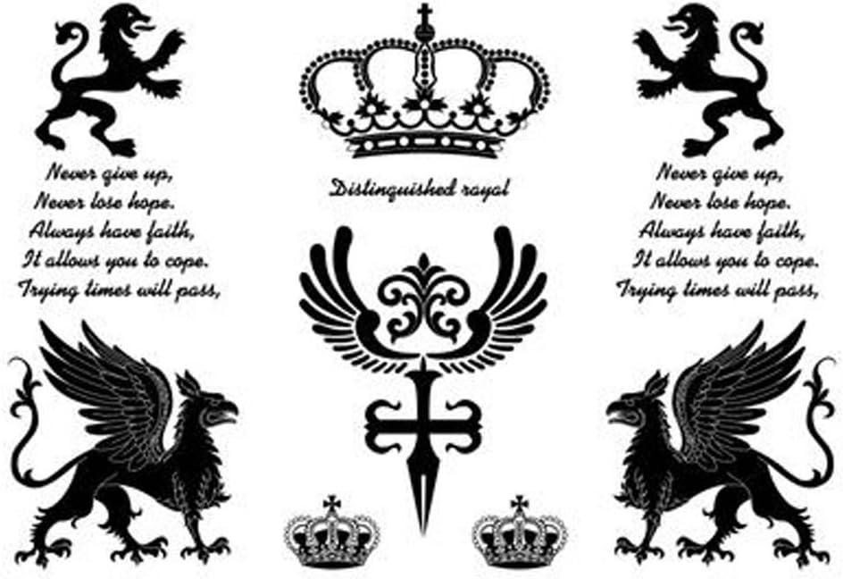 3 piezas de moda extra tatuaje temporal tatuaje negro cuerpo ...