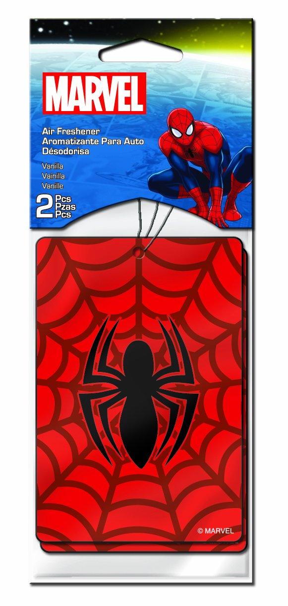 Plasticolor 005501R01 Marvel 'Spiderman' Air Freshener, (Pack of 2)