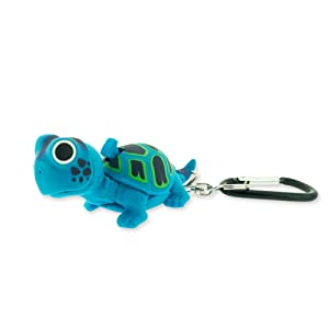 Sun Company WildLight Animal Carabiner Flashlight - Blue Turtle   Mini Animal Keychain Flash Lights for Kids, Nurses, Camping