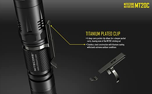Nitecore MT20 C - 460 lumens CREE XP-G2 LED linterna táctica con 2 x EdisonBright CR123 A baterías de litio): Amazon.es: Deportes y aire libre