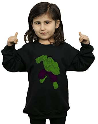 Amazoncom Marvel Girls Hulk Simple Sweatshirt Clothing