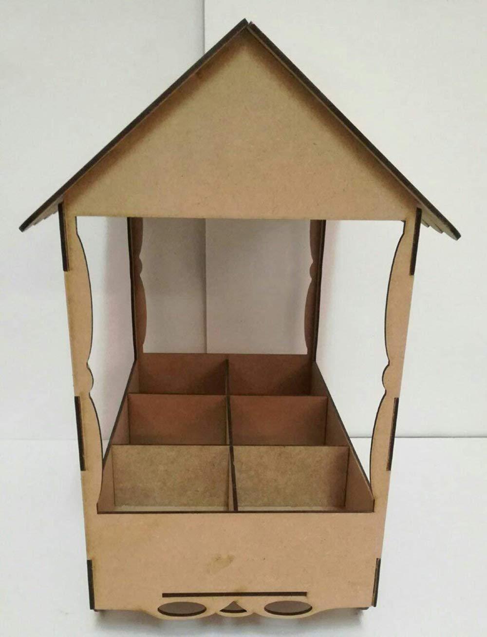 Kit para hacer carrito de chuches de madera DM para candy bar mesa dulce. Medidas:44cm de alto x 35 cm de ancho x 20 cm de fondo: Amazon.es: Hogar