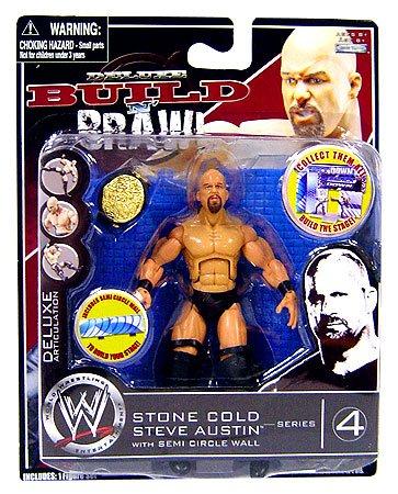 WWE Wrestling Build N' Brawl Series 4 Mini 4 Inch Action Figure Stone (Wwe Build N Brawl Ring)