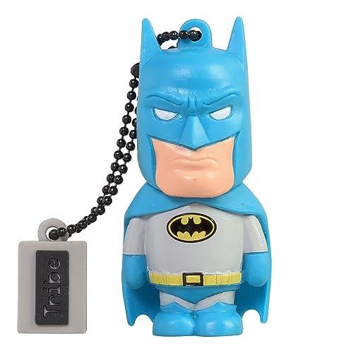 Tribe Warner Bros DC Comics Batman USB Stick 8GB Speicherstick 2.0 High Speed Pendrive Memory Stick Flash Drive, Lustige Geschenke 3D Figur, USB Gadget aus Hart-PVC mit Schlüsselanhänger – Mehrfarbig