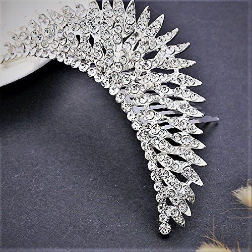 (Stunning Tiaras with Rhinestones for Wedding/Sweet Sixteen/Flower Girl/Quinceanera/First Communion Crown Headdress-Various Designs (Rhinestone Spike))