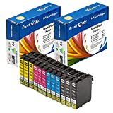 PrintOxe™ Compatible 12 Cartridges for E- T200XL Series (3 Black T2001 , 3 Cyan T2002 , 3 Magenta T2003 , & 3 Yellow T2004) T200 / 200XL for Use in Expression Home XP-100 / 200 / 300 / 310 / 400 / 410 and WorkForce WF-2510 / 2520 / 2530 / 2540. PrintOxe (TM) sold by PanContinent