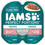 Iams Perfect Portions Grain Free Indoor Pate`Salmon Recipe (4-Trays) (NET WT 1.3 OZ) Each Serving