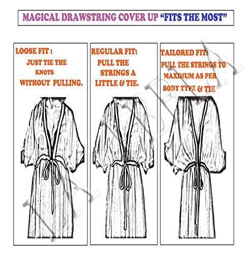 vestido de traje de baño ropa de playa túnica superior caftán las mangas del casquillo del traje de baño de algodón más el vestido del desgaste de la travesía complejo de tamaño naranja | nosotros: 16w-26w | Reino Unido: 18-28
