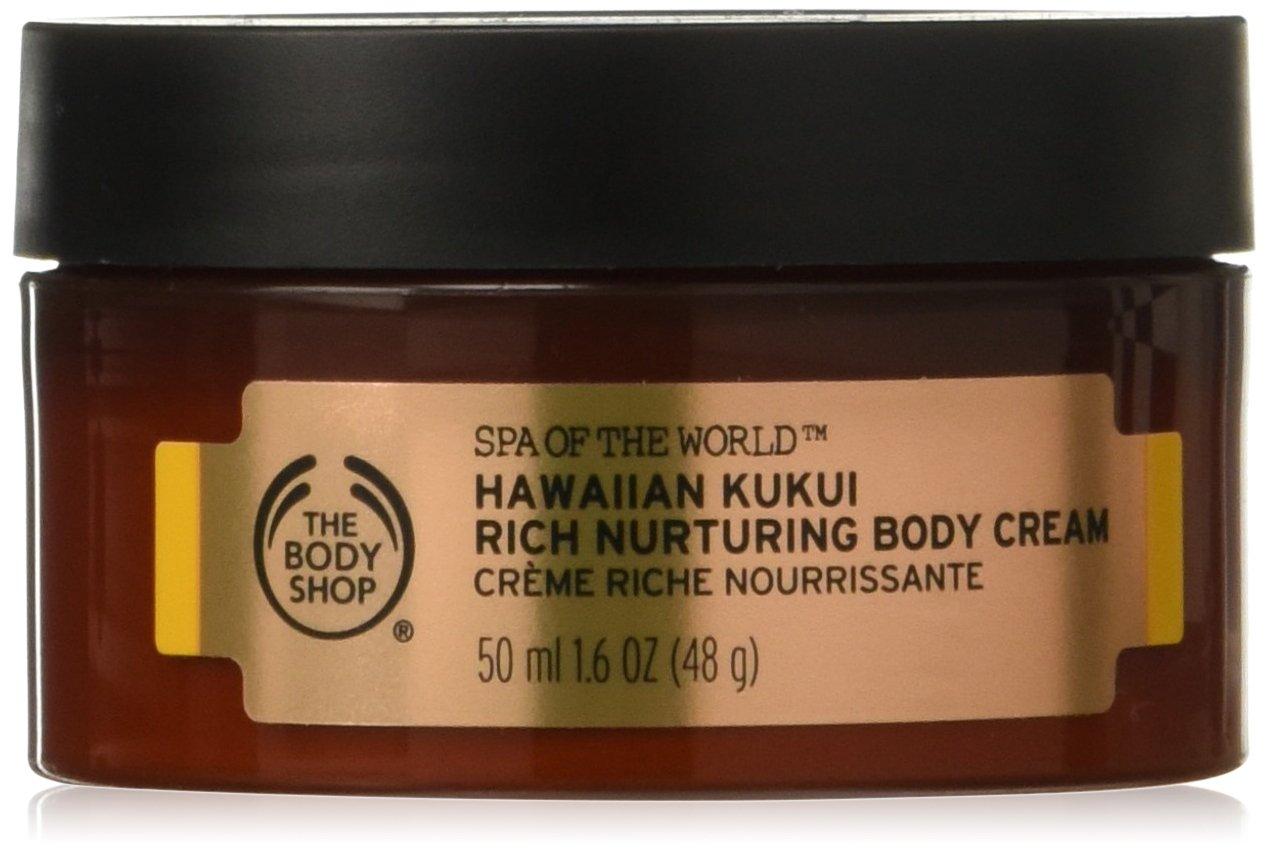 The Body Shop Spa of the world - Hawaiian Kukui Rich nutruring Body Cream Inhalt: 50ml Bodycreme für weiche Haut.