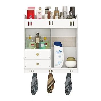 Wandregal Holz-Kunststoff-Board Multifunktionale Badezimmer Rack ...